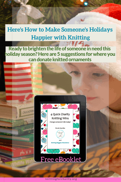 holiday charity knitting