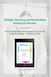 knitting patterns for ponchos