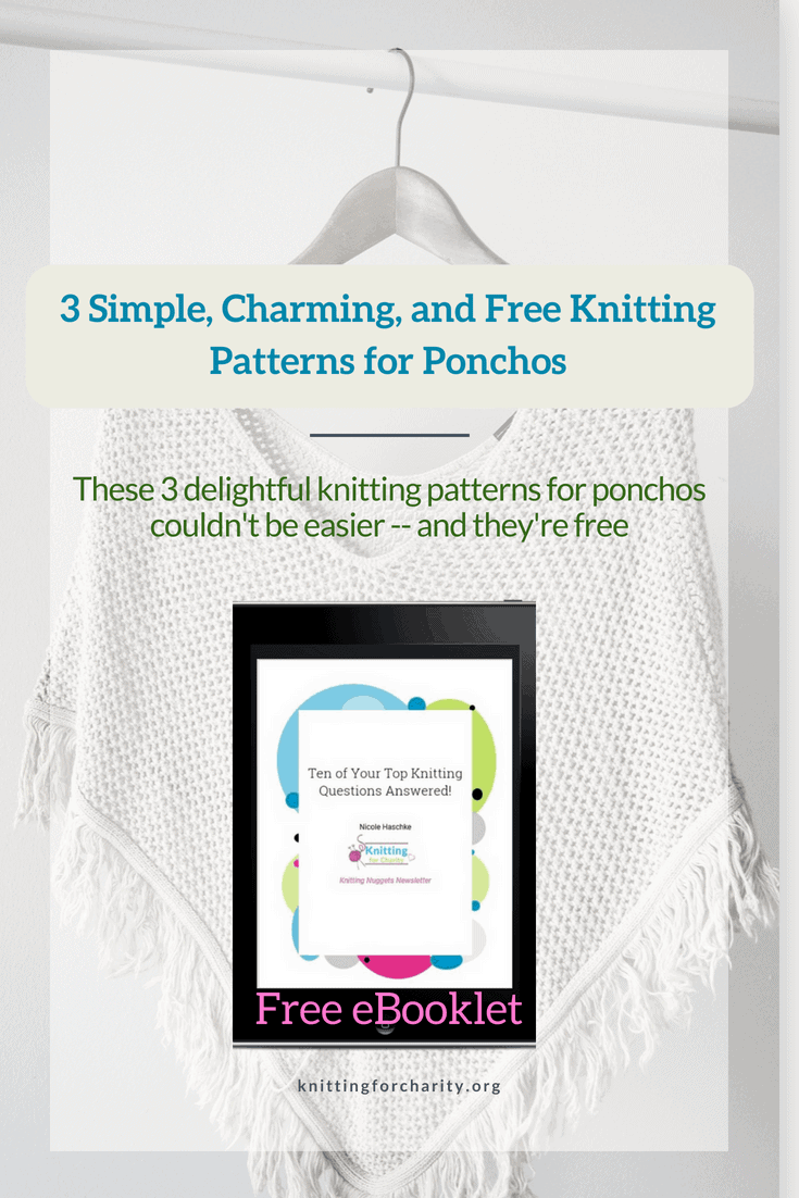 3 Simple Charming And Free Knitting Patterns For Ponchos