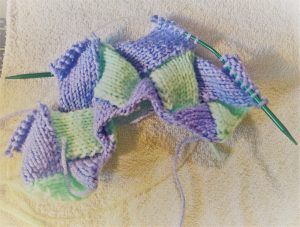 how to knit entrelac