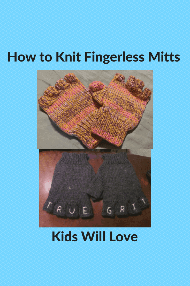 How to Knit Fingerless Mitts Kids Will Love - Knitting for Charity