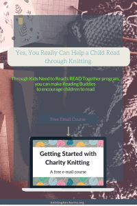 Yes, You Really Can Help a Child Read through Knitting