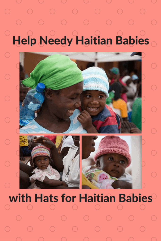 Hats for Haitian babies