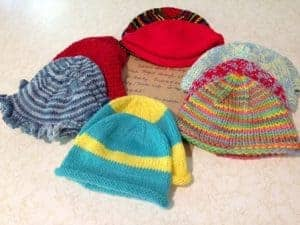 Hats for Haitian Babies from Laura
