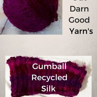 Trying Out Darn Good Yarn's Gumball Recycled Silk Yarn