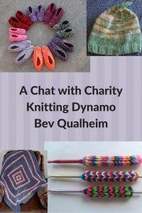charity knitting Bev Qualheim