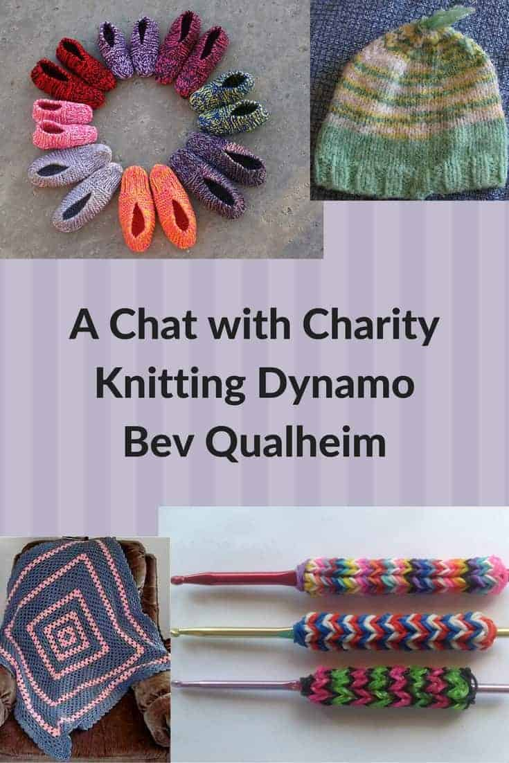 charity knitting Bev Qualheim