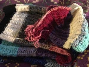 leftover yarn scarf