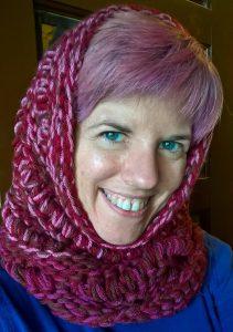 travel knitting, drop stitch knitting pattern