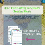 3 in 1 Free Knitting Patterns for Bonding Hearts
