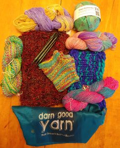 Darn Good Yarn goodies and yarns and projects