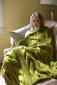 free throw blanket knitting pattern