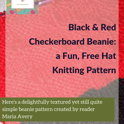 Black & Red Checkerboard Beanie: a Fun, Free Hat Knitting Pattern