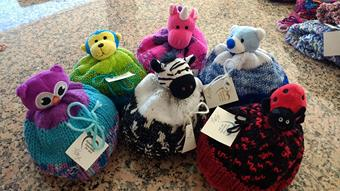 Handmade Especially for You baby hats