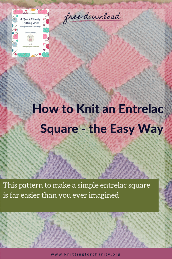 How to knit an entrelac square