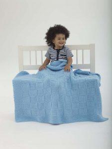 basketweave baby blanket - baby knitting patterns