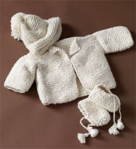 baby hat and booties knitting patterns