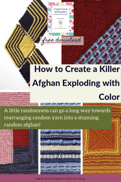 random afghan knitting patterns