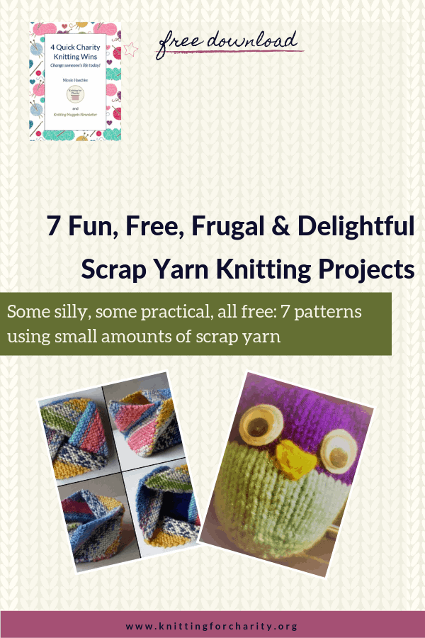 whimsical scrap yarn knitting projects