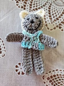 Crocheted bear for Team Brownsville - helping refugee children