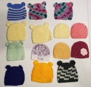 premature baby knitting charity - hats by Faith