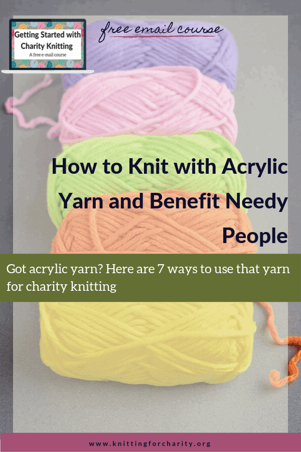 acrylic yarn for charity knitting