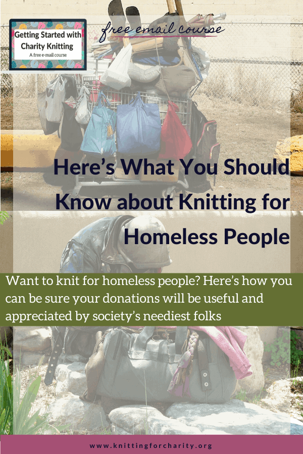 knitting for homeless